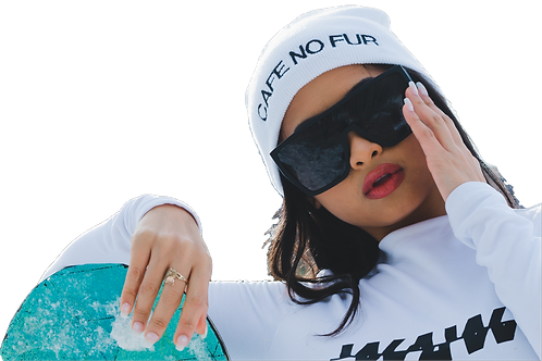 CAFE NO FUR BEANIE [WHITE]