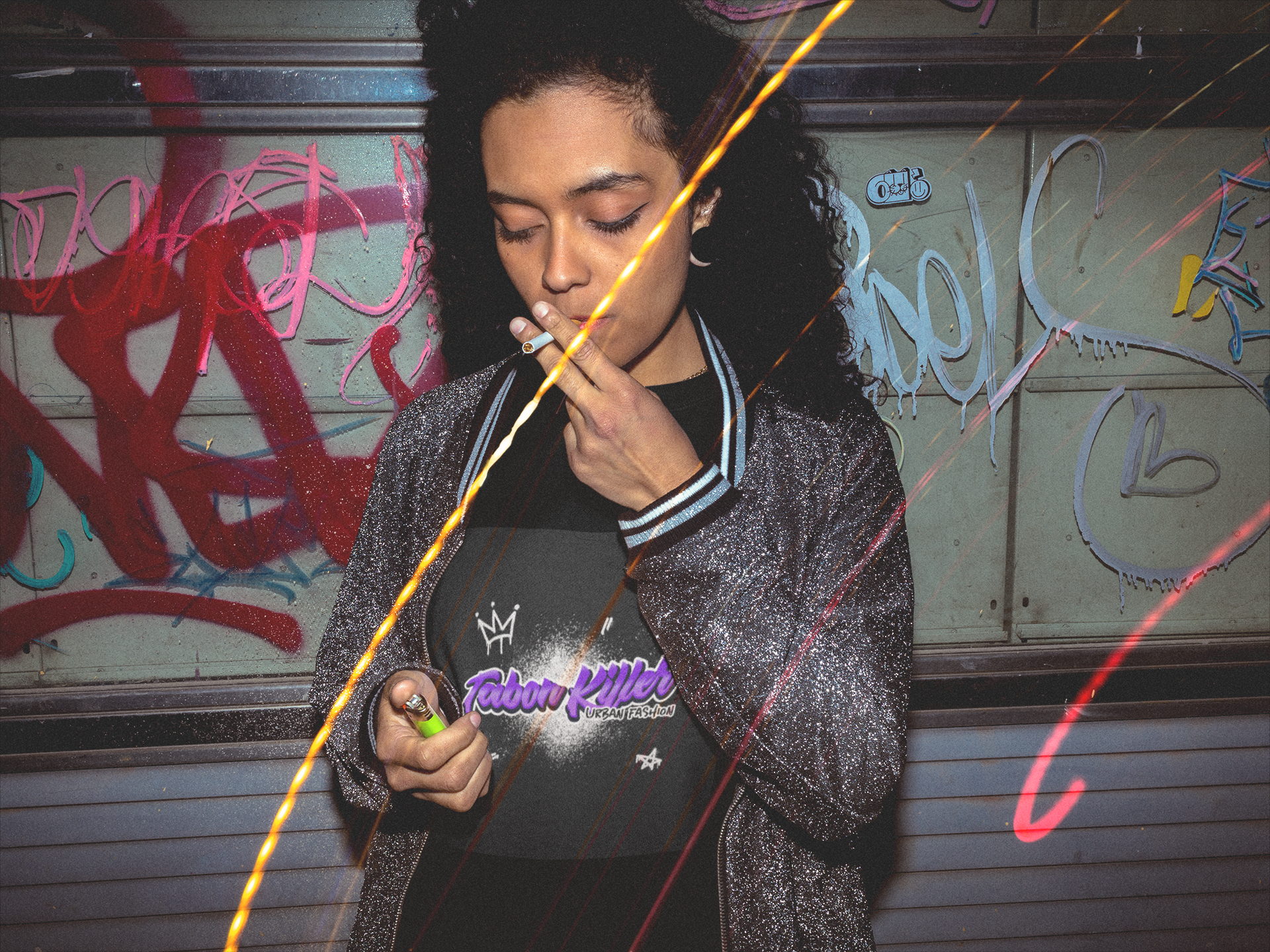 woman-lighting-a-cigarette-wearing-a-cre