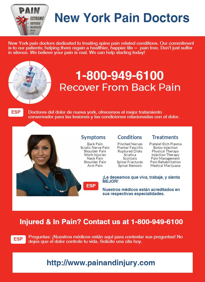 Lowe Back Pain Doctors in New York