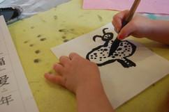 Brush paintings for kids