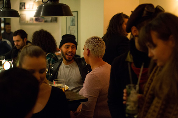 Mingle in our neigbouring bar with direct access from studios