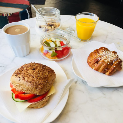 Breakfast options available