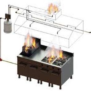 M-Type Kitchen Hood Fire Suppression System