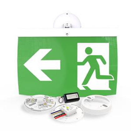 NFW-SDT/EL40L 40m Maintained Exit Sign Kit - LEFT arrow (ISO7010)