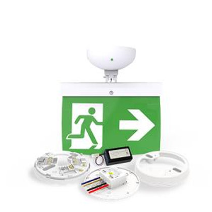 NFW-SDT/EL20R 20m Maintained Exit Sign Kit - RIGHT arrow (ISO7010)