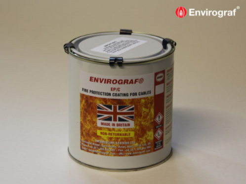 Envirograf Fire Protection Coating for PVC Electrical Cables