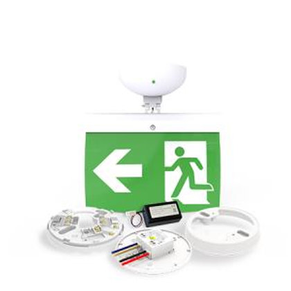 NFW-SDT/EL20L 20m Maintained Exit Sign Kit - LEFT arrow (ISO7010)