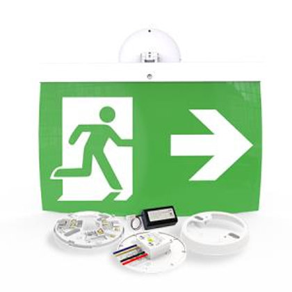 NFW-SDT/EL40R 40m Maintained Exit Sign Kit - RIGHT arrow (ISO7010)