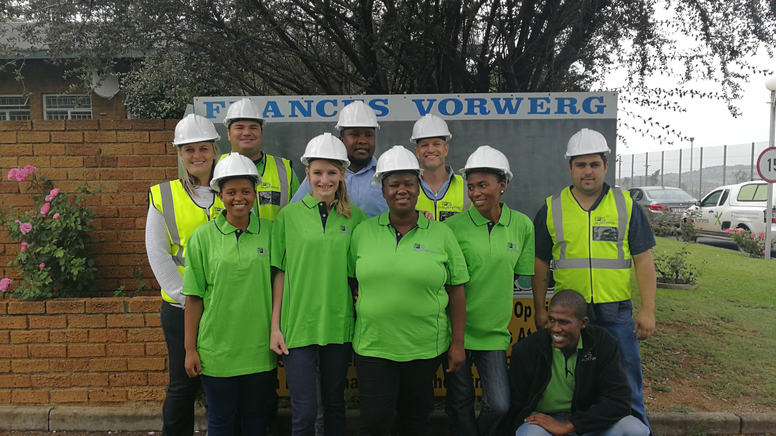 The Johannesburg Team giving back to the community.