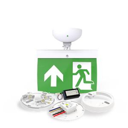 NFW-SDT/EL20U 20m Maintained Exit Sign Kit - UP arrow (ISO7010)