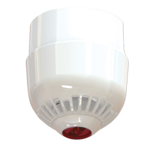 ASC2367W 2000 Series Ceiling Mount Sounder/VAD, Multi-Tone, Deep Base, RED Flash