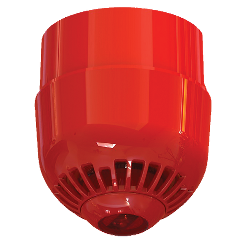 ASC367 Conventional Ceiling Mount VAD, Multi Tone, Deep Base - Red Flash