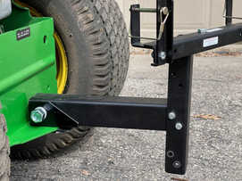 adapter to tow garbage can with lawn tra