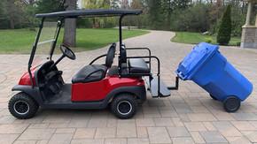 golf car garbage can hauler