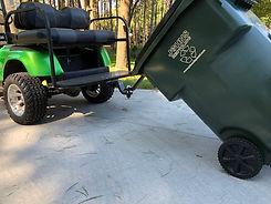 golf cart garabge hauling device
