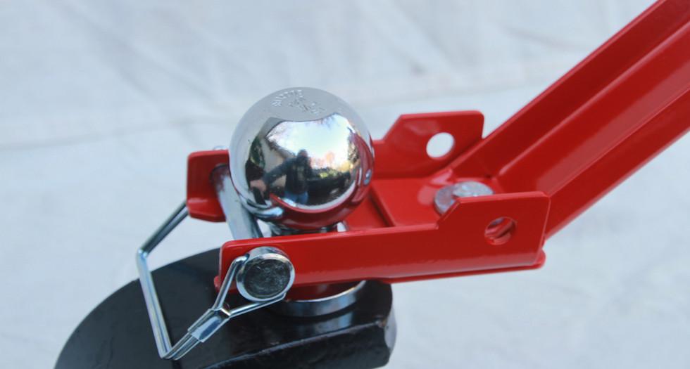 Ball mounting pin to ball