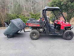 utv garbage hauling device