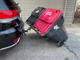 dual garbage can hauling device