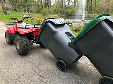 atv trash can hauler