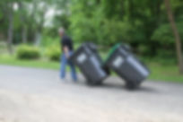 walking trash cans with can coupler