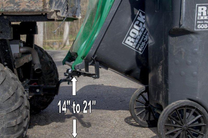 ATV garbage hauling hitch