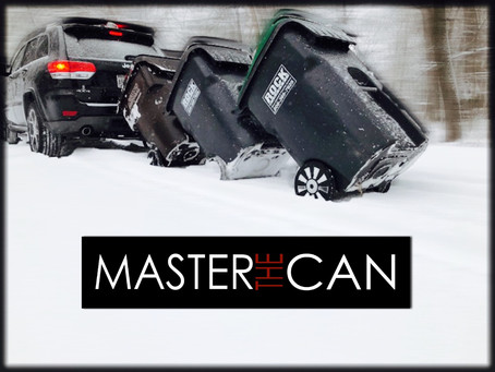 When it snows you can walk your cans down or.... MASTERTHECAN