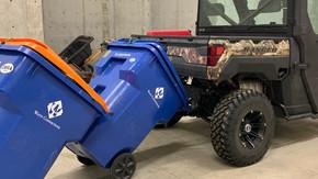 utv garbage can hauler