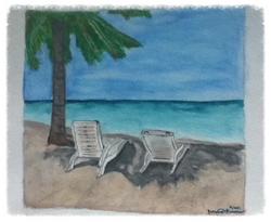 Debbie's Beach Watercolor