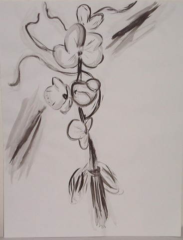 Ink Flower Study