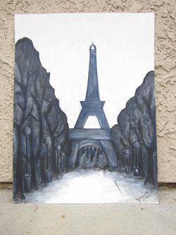 Gray Study of the Eiffel Tower