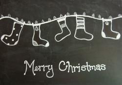 Merry Christmas Chalkboard Card