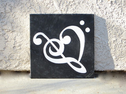 For Cary (Treble and Bass Clef Heart