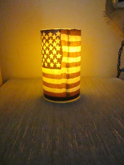 American Flag Flameless Candle