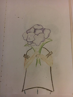 Sketch - Girl with Flowers