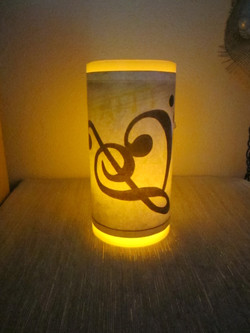 Musical Heart Flameless Candle