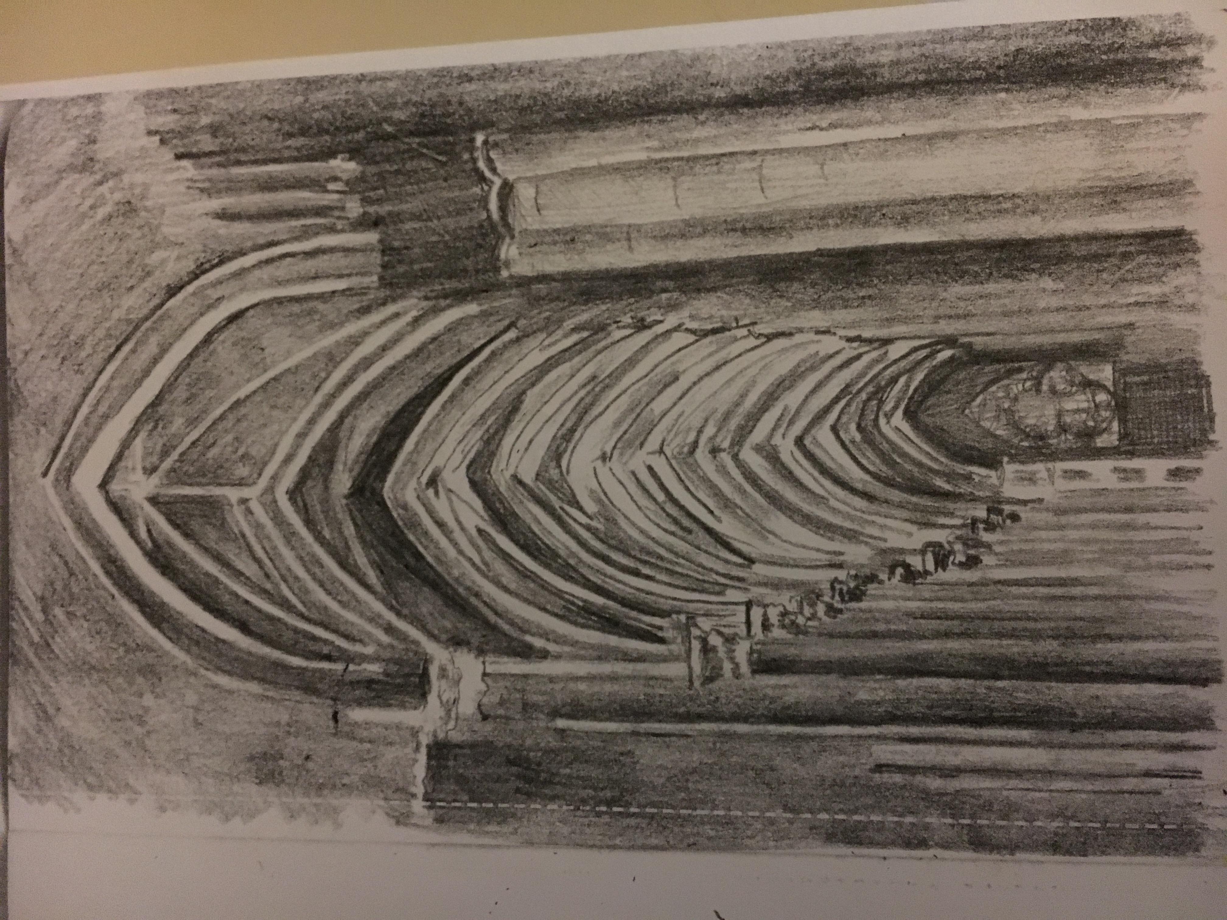 Sketch- Inside Notre Dame