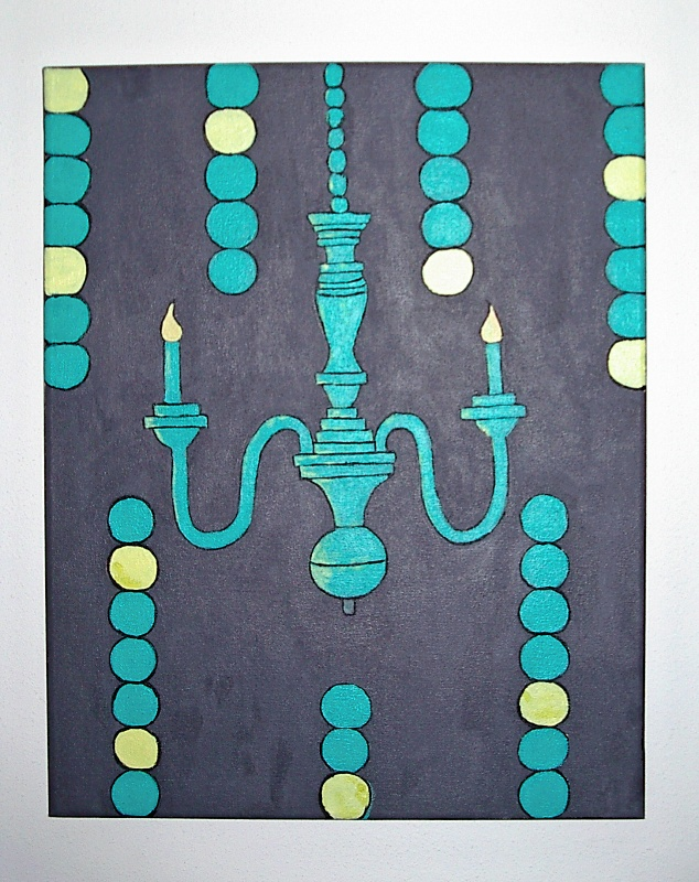 Simple Teal Chandelier