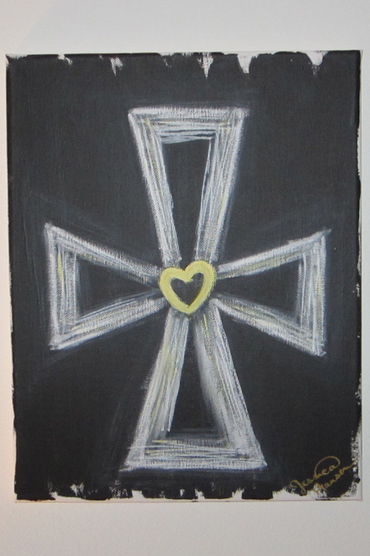 Yellow Heart Cross