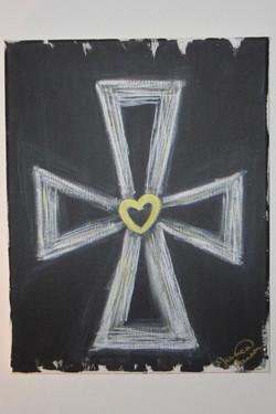 Yellow Heart Cross