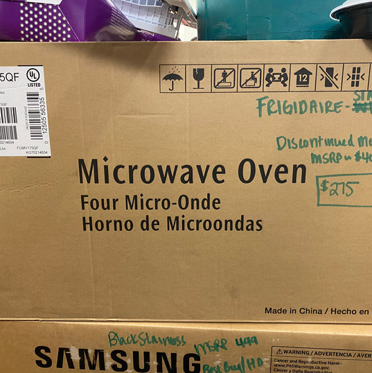 (3) Frigidaire Microwave - NEW IN BOX - $275