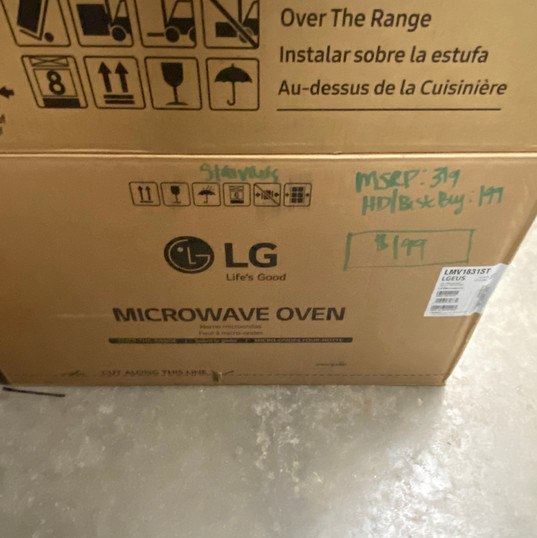 LG Microwave - Stainless - $199