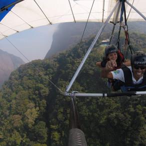 My daughter hang gliding in Rio de Janeiro