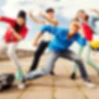 sport, dancing and urban culture concept