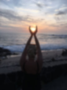 Hawaiian sunset over the Pacific, Kelsey Emily Yoga