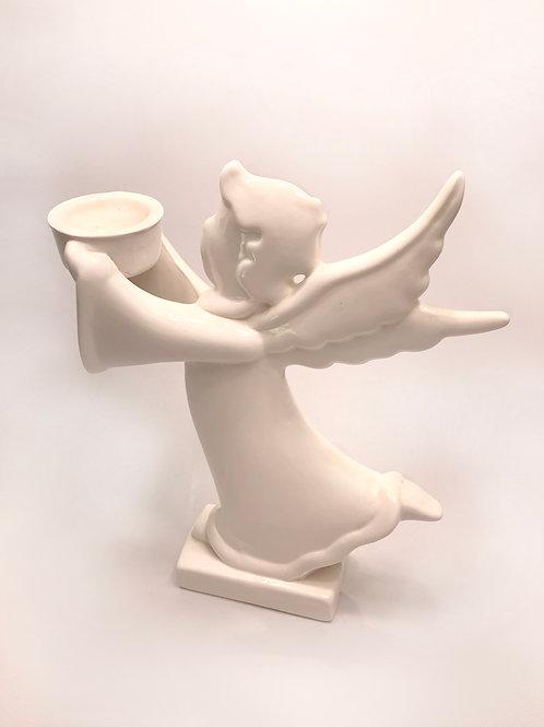 Svečturis eņģelis glazēts liels