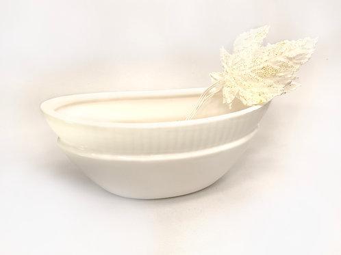 Keramikas trauks iegarens balts