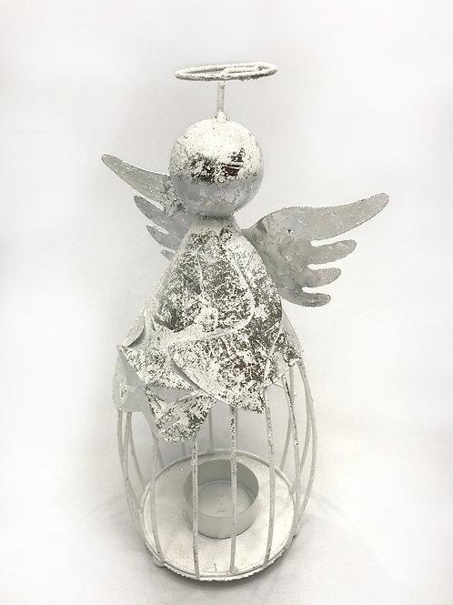 Svečturis metāla tējas svecēm eņģelis