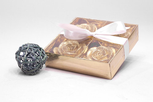 Svecīšu komplekts kastītē roze