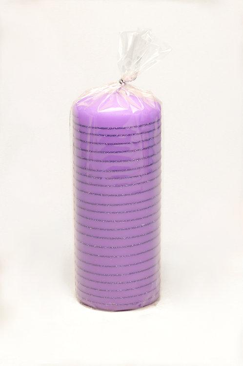 Svece violeta iepakojumā
