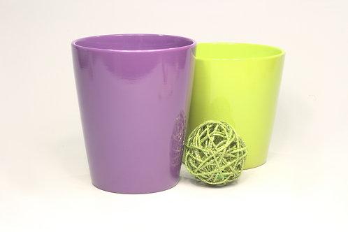 Puķu pods glazēts dažādas krāsas